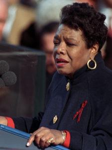 Maya Angelou (1928–2014), laureate poet