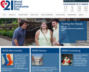 Web page - March 21 is World Down Syndrome Day, 3/21 in recognition of Trisomy 21