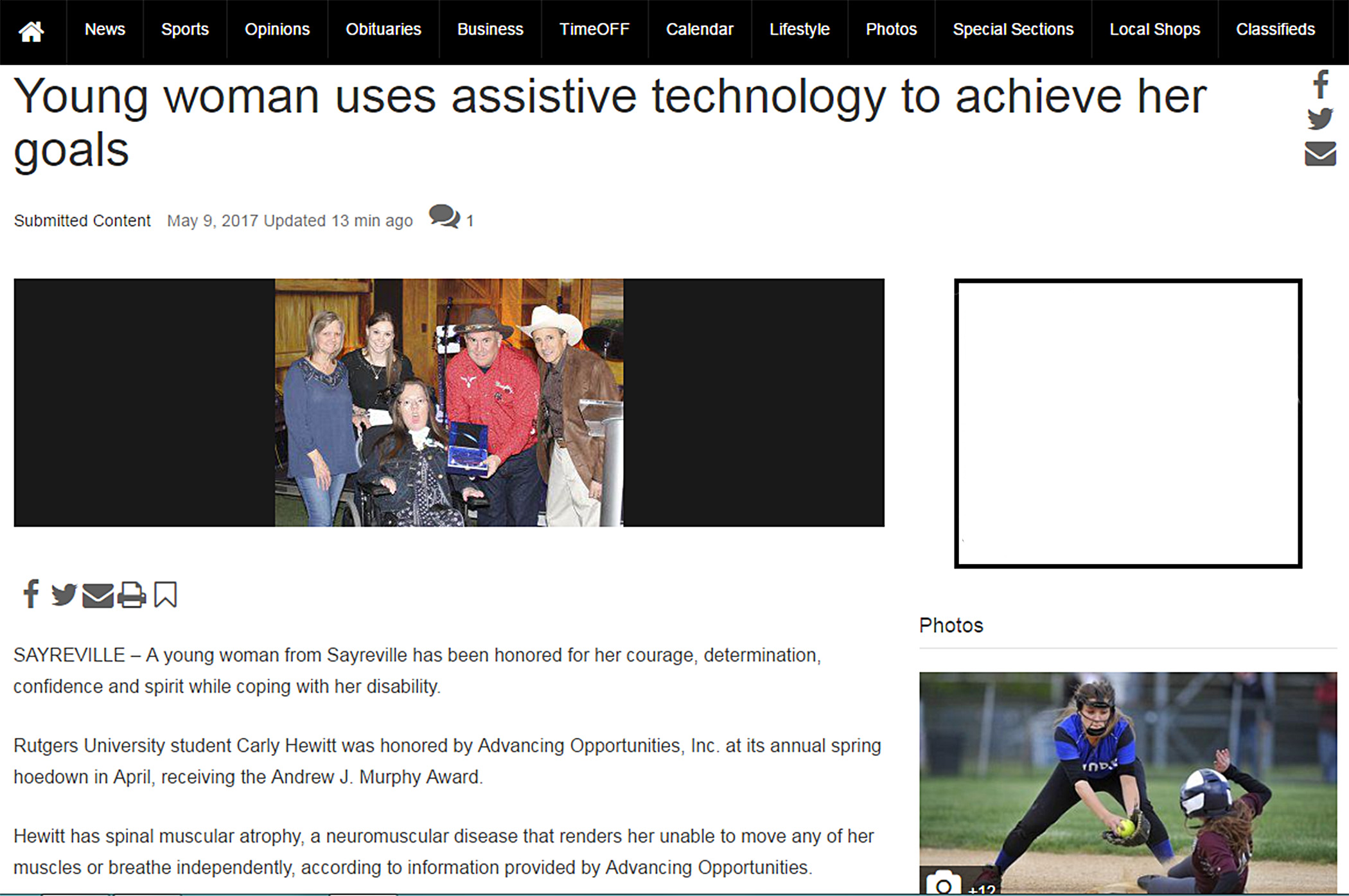 With assistive technology and through self-advocacy and determination, woman with disability goes to college