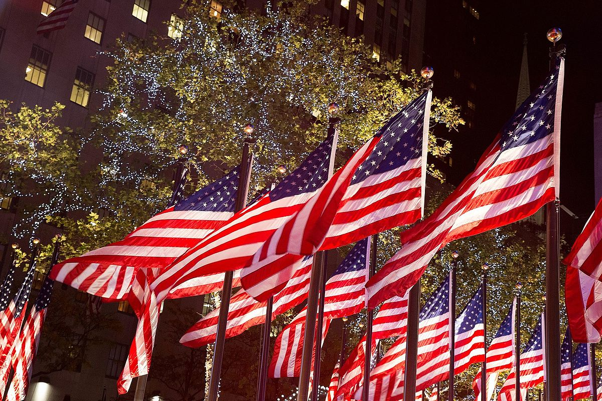 As these American flags show, voting is your right - disabilities
