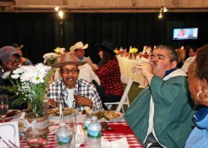 Advancing Opportunities residents from the Robbinsville group home enjoy a night out in the community.