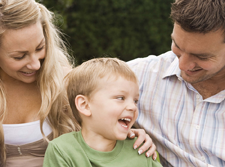 Parents offer child with learning disability - ADHD comfort