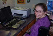 College student Melissa uses Dragon NatruallySpeaking as assistive technology