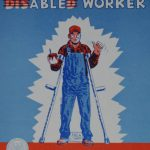 National Disability Employment Month - Vintage poster advocates for people with disabilities in their ability to work