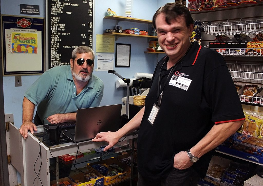 Assistive Technology - blind man starts and runs his own business with assistive technology.
