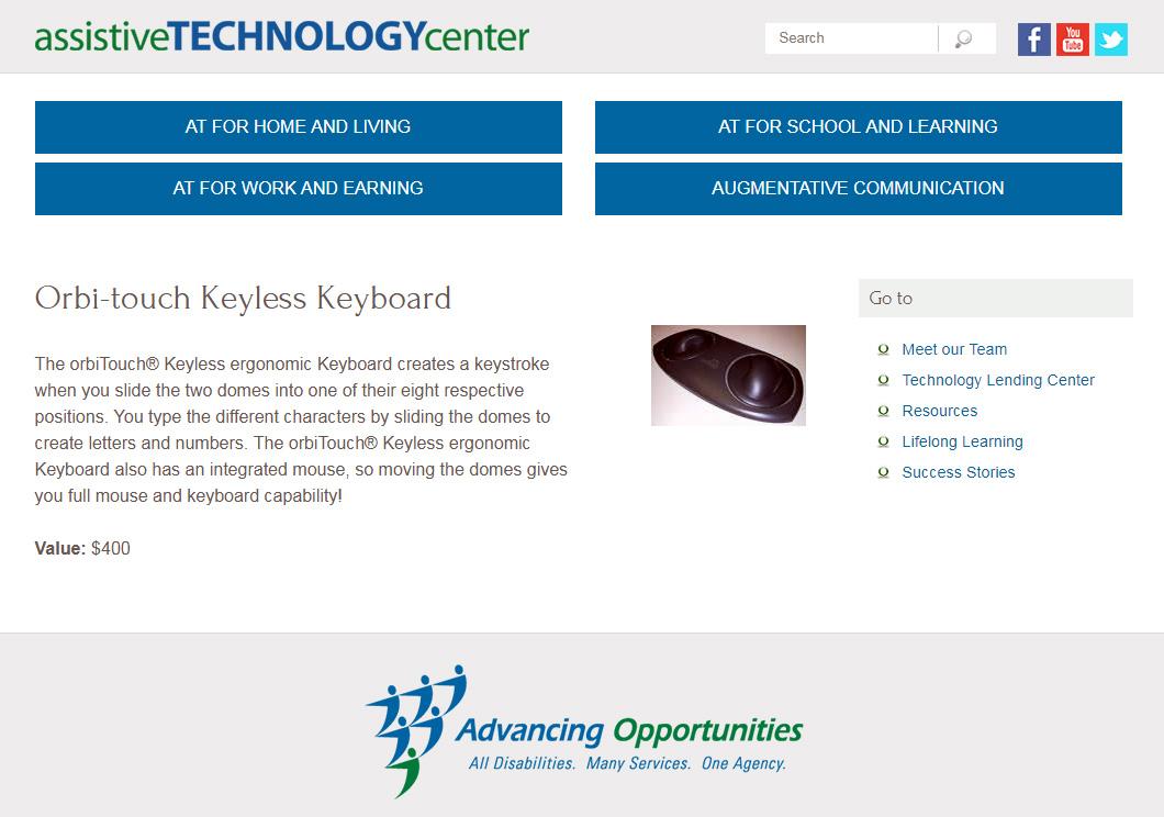 orbitouch keyless keyboard assistive tech