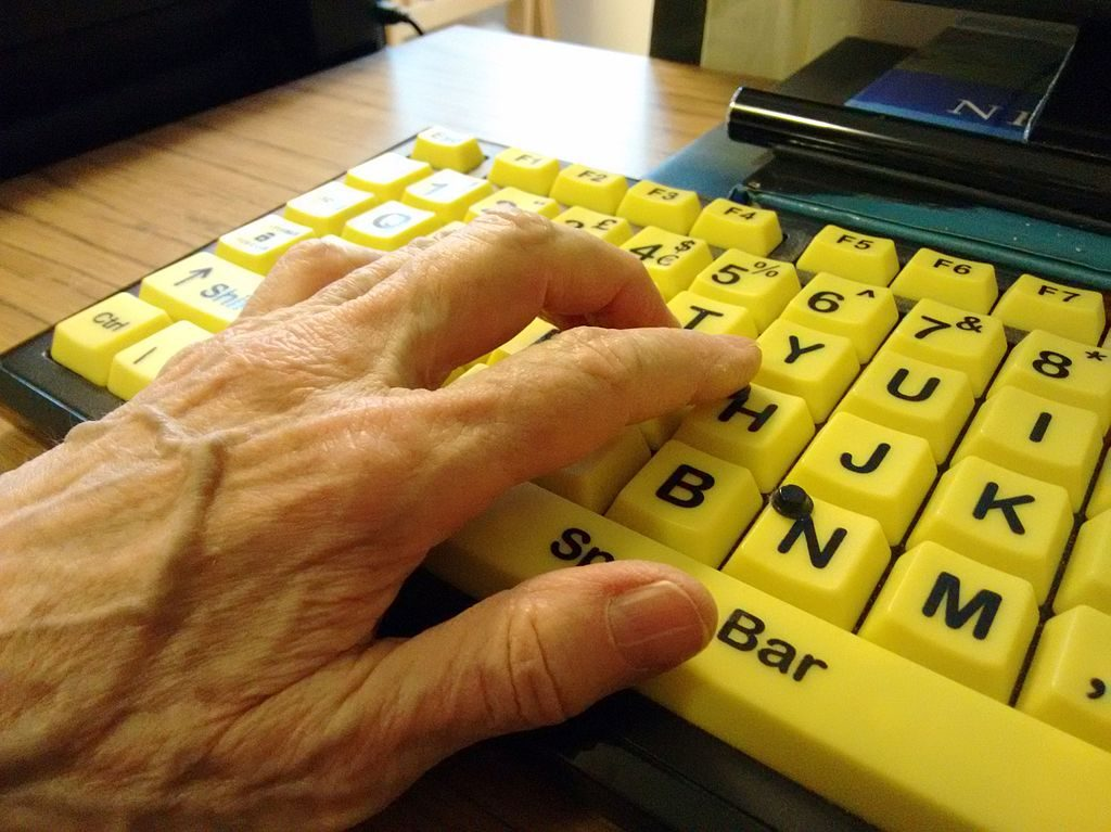 VisionBoard blind visually impaired keyboard