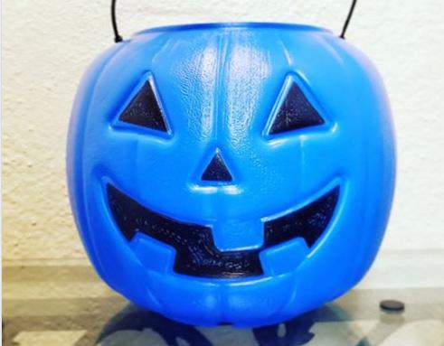 Halloween blue pumpkin inclusion autism