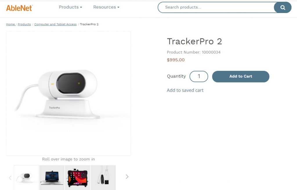 TrackerPro hands free computer mouse